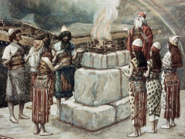 Noah's Sacrifice  James J. Tissot (1836-1902/French)  Jewish Museum, New York